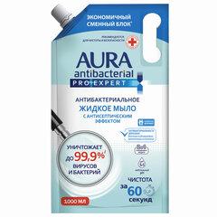 Мыло-крем антибактериальное 1 л AURA PRO EXPERT, с антисептическим эффектом, дой-пак