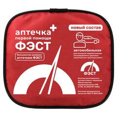 Аптечка первой помощи автомобильная ФЭСТ, текстильный футляр, состав - по приказу № 1080н