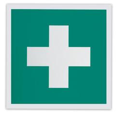 """Знак """"Аптечка первой медицинской помощи"""", 200х200 мм, самоклейка, фотолюминесцентный, ЕС 01"""