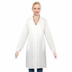Халат рабочий женский белый, бязь, размер 48-50, рост 158-164, плотность ткани 142 г/м2, 610705