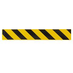 Полосы для напольной разметки, КОМПЛЕКТ 6 шт., желто-черные, самоклеящиеся, размер 500х80 мм, КП04