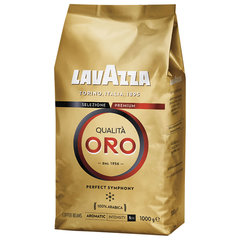 "Кофе в зернах LAVAZZA ""Qualita Oro"", арабика 100%, 1000 г, вакуумная упаковка"