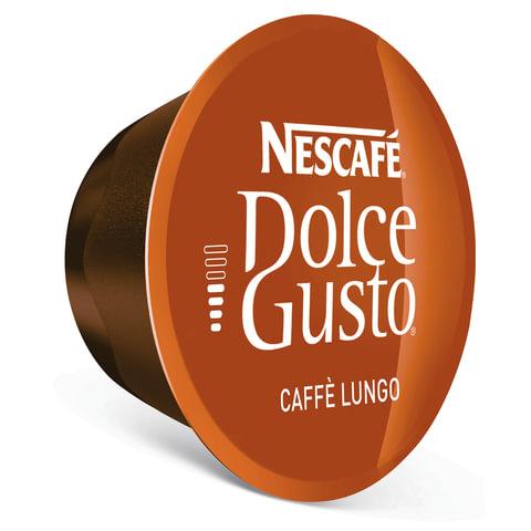 Капсулы для кофемашин NESCAFE Dolce Gusto Lungo, натуральный кофе 16 шт. х 7 г