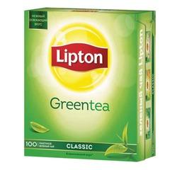 """Чай LIPTON (Липтон) """"Clear Green"""", зеленый, 100 пакетиков с ярлычками по 1,3 г"""