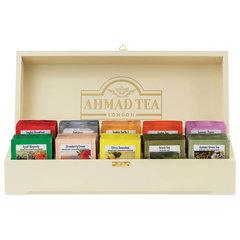 """Чай AHMAD (Ахмад) """"Contemporary"""", набор в деревянной шкатулке, ассорти 10 вкусов по 10 пакетиков по 2 г, Z583-1"""
