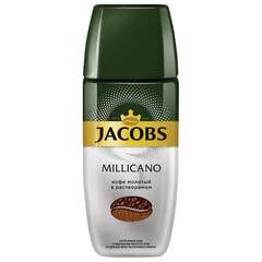 """Кофе молотый в растворимом JACOBS """"Millicano"""", сублимированный, 95 г, стеклянная банка"""