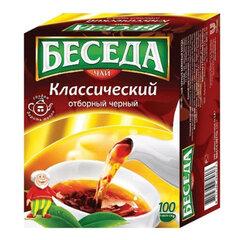Чай БЕСЕДА, черный, 100 пакетиков по 1,8 г