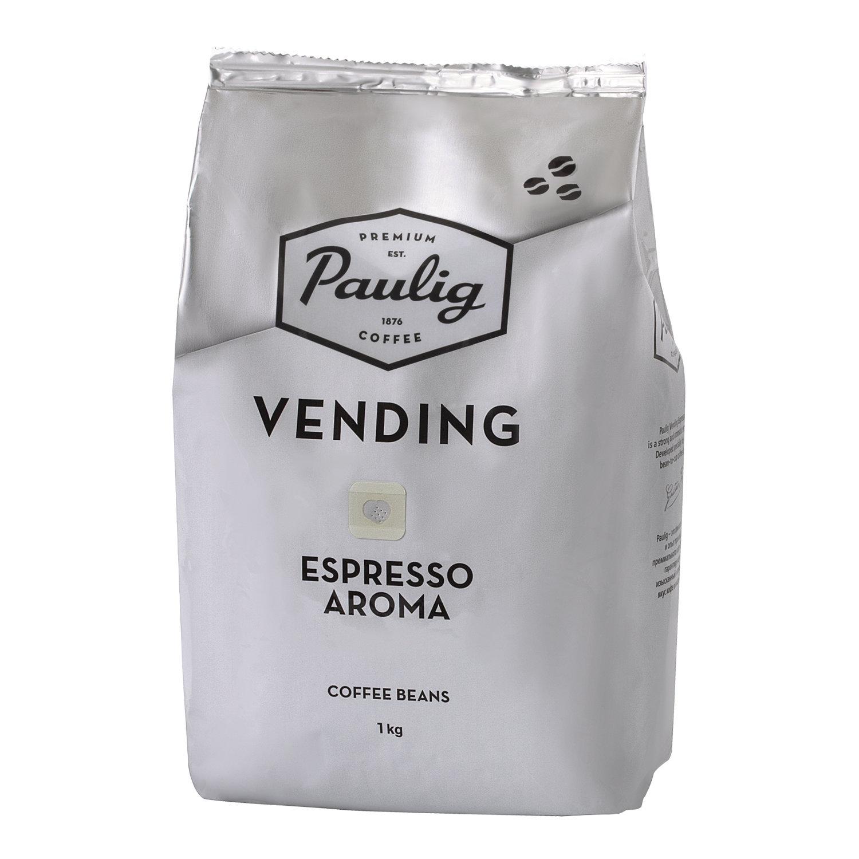 """Кофе в зернах PAULIG (Паулиг) """"Vending Espresso Aroma"""", натуральный, 1000 г, вакуумная упаковка"""