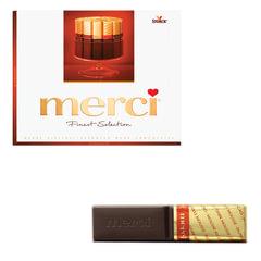 Конфеты шоколадные MERCI (Мерси), ассорти из темного шоколада, 250 г, картонная коробка