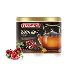 "Чай TEEKANNE (Тиканне) ""Blackcurrant-Pomegranate"", черный, смородина/гранат, листовой, 150 г, ж/б, Германия"