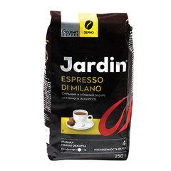 """Кофе в зернах JARDIN (Жардин) """"Espresso di Milano"""", натуральный, 250 г, вакуумная упаковка"""