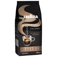 "Кофе в зернах LAVAZZA ""Espresso Italiano Classico"", 500 г, вакуумная упаковка"