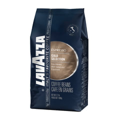 "Кофе в зернах LAVAZZA (Лавацца) ""Gold Selection"", натуральный, 1000 г, вакуумная упаковка"