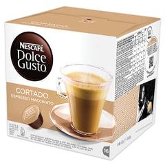 """Кофе в капсулах NESCAFE """"Cortado"""" для кофемашин Dolce Gusto, эспрессо с молоком, 16 шт. х 6 г"""