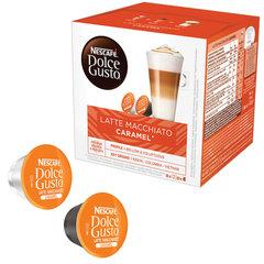 "Капсулы для кофемашин NESCAFE Dolce Gusto ""Латте Макиато Карамель"", кофе 8 шт. х 6 г, молочные капсулы 8 шт. х 15 г"