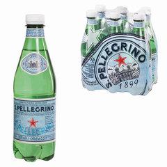 Вода газированная минеральная S.PELLEGRINO (С.Пеллегрино), 0,5 л, пластиковая бутылка, Италия