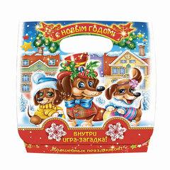 """Подарок новогодний """"Приключения Таксы"""", 400 г, набор конфет и пр., ассорти, картонная коробка"""