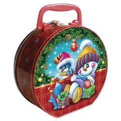 """Подарок новогодний """"Рождественское чудо"""", 500 г, набор конфет и пр., ассорти, жестяная коробка"""