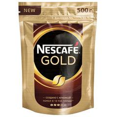 """Кофе молотый в растворимом NESCAFE (Нескафе) """"Gold"""", сублимированный, 500 г, мягкая упаковка"""