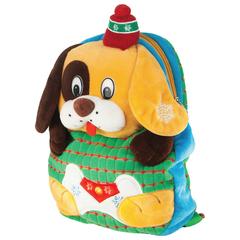 """Подарок новогодний """"Вкуснячок"""", 1000 г, набор конфет и пр., ассорти, рюкзак, мягкая игрушка"""