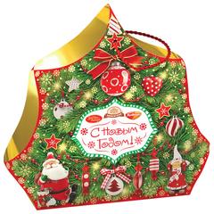 """Подарок новогодний """"Волшебство"""", 1000 г, набор конфет и пр., ассорти, картонная коробка"""