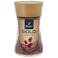 """Кофе растворимый TCHIBO """"Gold selection"""", сублимированный, 95 г, стеклянная банка"""