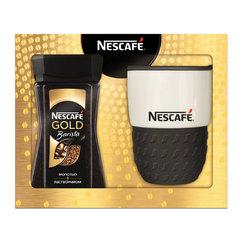 """Промонабор: Кофе молотый в растворимом NESCAFE """"Gold Barista"""", 85 г, стеклянная банка + термокружка"""