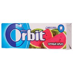 """Жевательная резинка ORBIT (Орбит) """"Сочный арбуз"""", 10 подушечек, 13,6 г"""