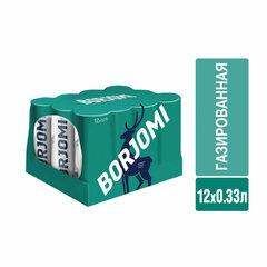 Вода ГАЗИРОВАННАЯ минеральная BORJOMI (БОРЖОМИ) 0,33 л, жестяная банка