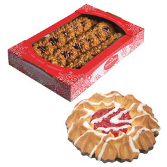 """Печенье БЕЛОГОРЬЕ """"Камилла"""", сдобное в темной глазури, 2,2 кг, весовое, гофрокороб"""