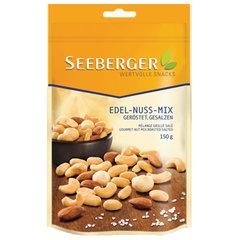 Смесь ядер орехов SEEBERGER соленых с копченым вкусом, 150 г, Германия