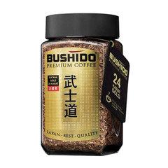 """Кофе растворимый BUSHIDO """"Katana Gold 24 Karat"""", сублимированный с пищевым золотом, 100 г, 100% арабика, стеклянная банка"""