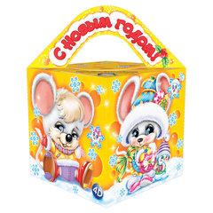"""Подарок новогодний """"Мышкина мечта"""" с анимацией, 300 г, НАБОР конфет, картонная упаковка"""