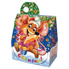"""Подарок новогодний """"Ушастик"""" с анимацией, 500 г, НАБОР конфет, картонная упаковка"""