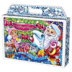 """Подарок новогодний """"Чемодан """"Пазлы"""", 1500 г, НАБОР конфет, картонная упаковка"""