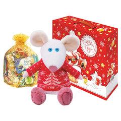 """Подарок новогодний """"Новогодний набор №12"""", 700 г, НАБОР конфет, мягкая игрушка"""