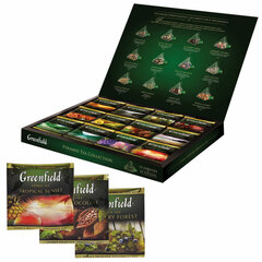 Чай GREENFIELD (Гринфилд), НАБОР 12 видов, 60 пирамидок, 110 г, картонная коробка