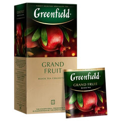 "Чай GREENFIELD (Гринфилд) ""Grand Fruit"", черный, гранат-розмарин, 25 пакетиков в конвертах по 1,5 г"