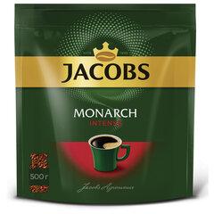"""Кофе растворимый JACOBS Monarch """"Intense"""", сублимированный, 500 г, мягкая упаковка"""
