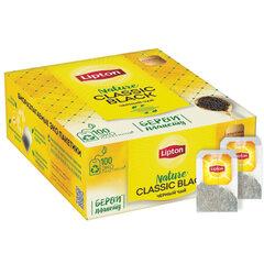 """Чай LIPTON """"Black Classic"""", черный, 100 пакетиков с ярлычками по 1,8 г"""