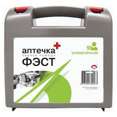 Аптечка первой помощи универсальная ФЭСТ, до 7 человек, футляр из полистирола, № 6