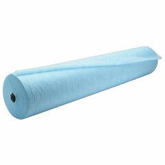 Простыни одноразовые ГЕКСА рулонные с перфорацией 100 шт. 80х200 см, спанбонд ламинированный 40 г/м2, голубые
