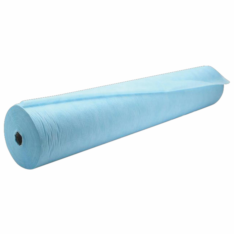 Простыни одноразовые ГЕКСА рулонные без перфорации 0,8х400 м, спанбонд 18 г/м2, голубые