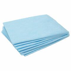 Простыни одноразовые ЧИСТОВЬЕ нестерильные, КОМПЛЕКТ 20 шт., 70х200 см, СМС 14 г/м2, голубые