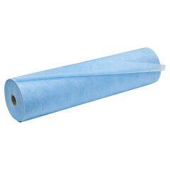 Простыни одноразовые ЧИСТОВЬЕ рулонные с перфорацией 70 шт., 53х210 см, СМС 18 г/м2, для МРТ, голубые