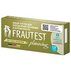 Тест на овуляцию и беременность FRAUTEST PLANNING, набор тест-полосок, 5+2 шт.