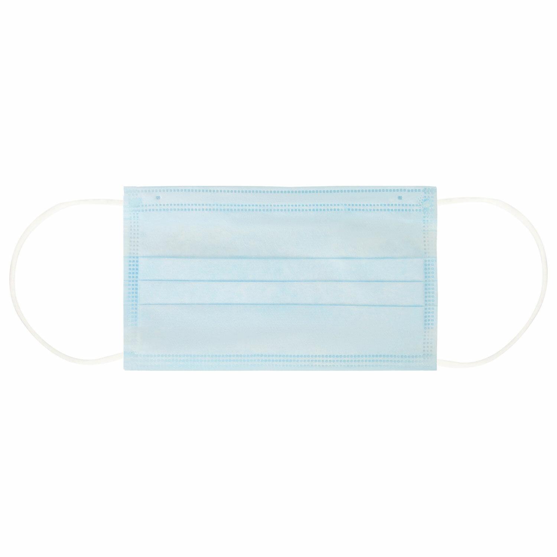 Маска одноразовая медицинская 1шт. 3-х слойная голубая (фильтр мельтблаун) SANITERRA
