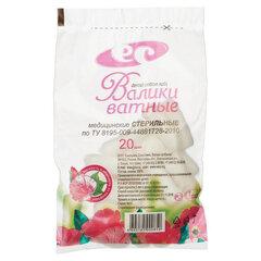 Валик ватный стоматологический ЕМЕЛЬЯН САВОСТИН стерильный, пакет 20 шт., 30х10 мм