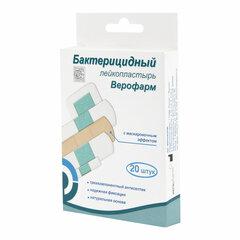 Набор лейкопластырей бактерицидных 20 шт. ВЕРОФАРМ, 4 размера, телесные