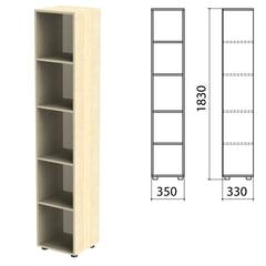 "Шкаф (стеллаж) ""Канц"" 350х330х1830 мм, 4 полки, цвет дуб молочный"